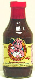 Jim's Own Hot Bar-b-que Sauce <br> Pint Bottle Picture