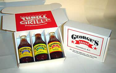 George's Bbq Sauce Gift Box Picture