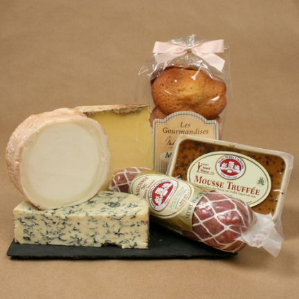Gourmet French cheese & charcuterie gift